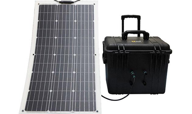 可搬型の独立電源設備3種発売 リン酸鉄リチウム蓄電池採用