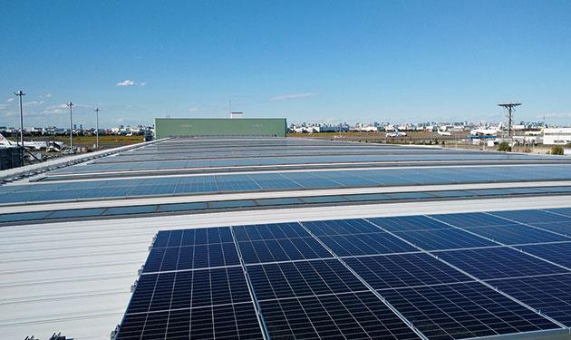 羽田空港で自家消費用太陽光発電が稼働