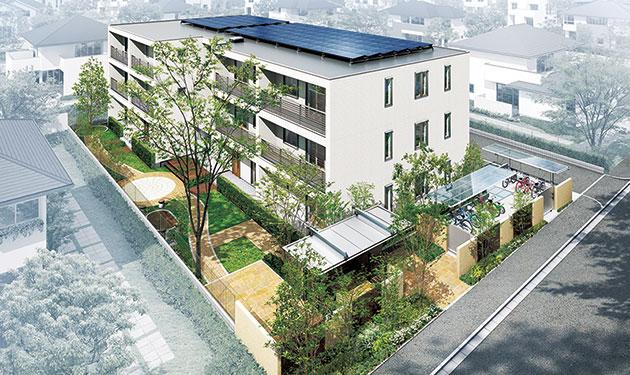 集合住宅でも第三者所有モデル 既築・新築の両方で提案開始