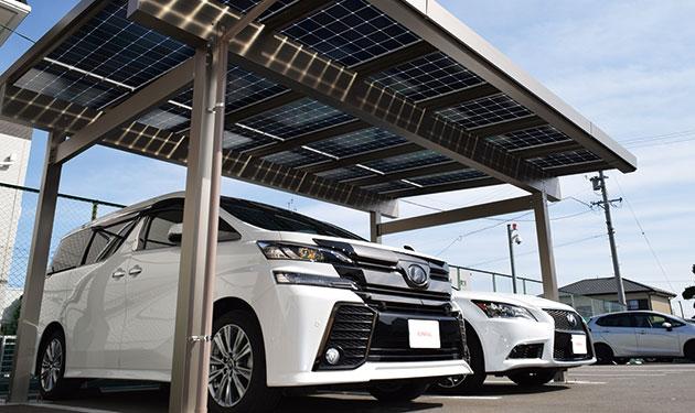 防火認定取得屋根一体型太陽光パネル搭載カーポート発売